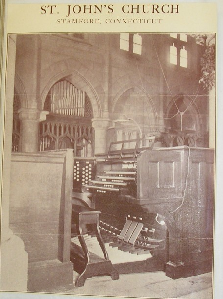 Ernest M. Skinner organ, Op. 266 (1917) in St. John's Episcopal Church (Stamford, CT)