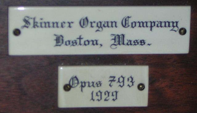 Skinner Organ, Op. 793 (1929) in Second Church of Christ, Scientist (Hartford, CT)