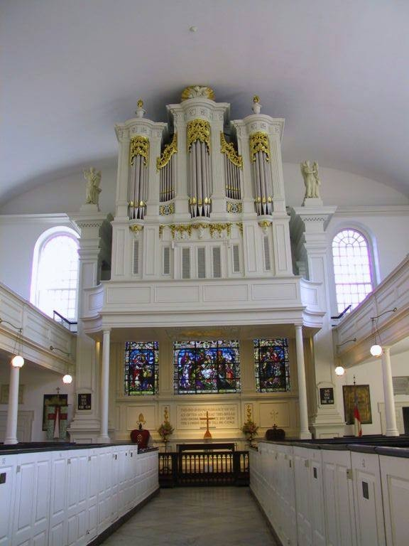 Organ case by Philip Feyring, ca.1764 in Old St. Peter's Episcopal Church (Philadelphia, PA)