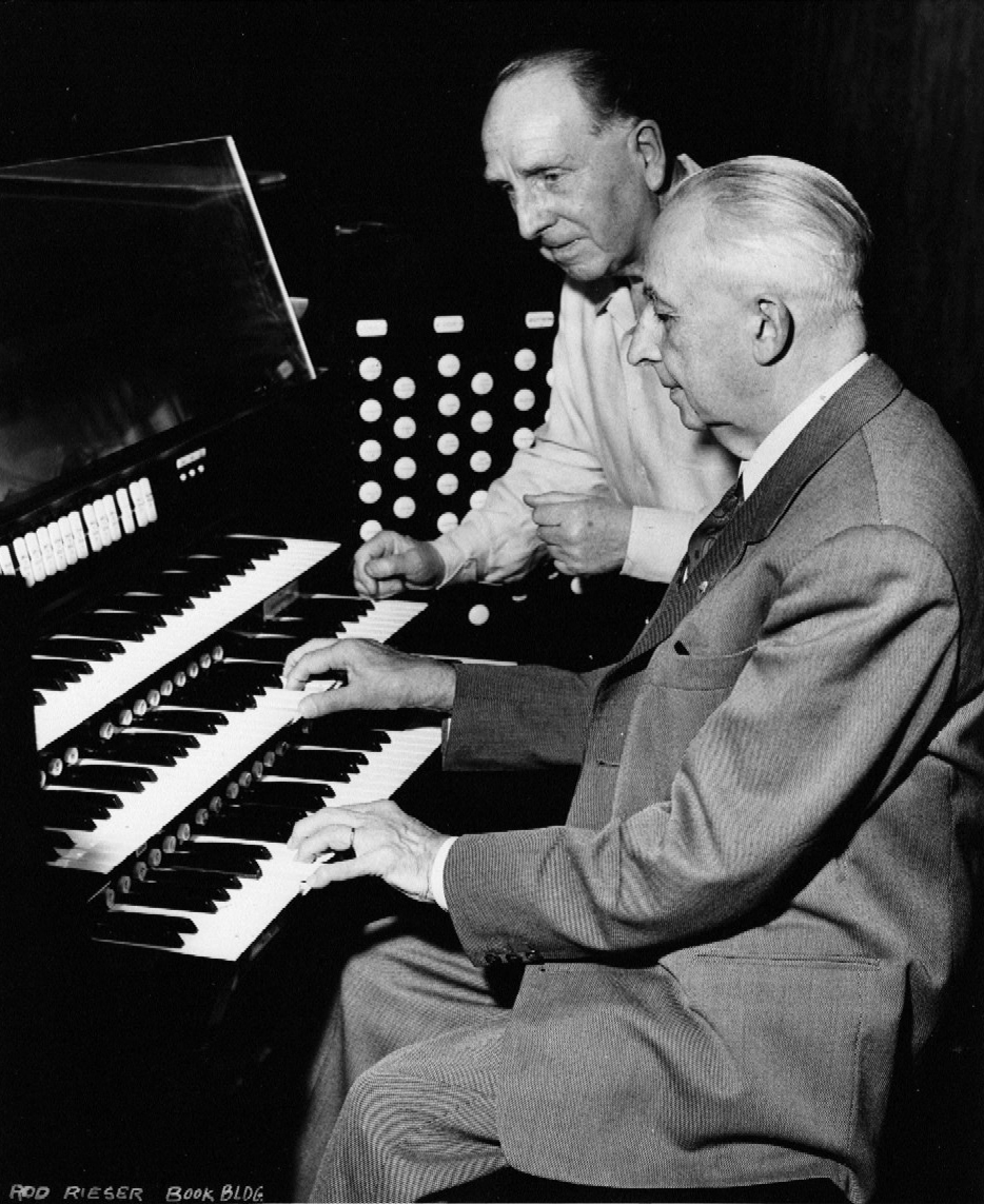 Paul Paray and Marcel Dupré at Aeolian-Skinner Organ, Op. 1324 (1955) in Ford Auditorium (Detroit, MI)